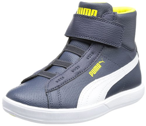 Puma Archive Lite MID L V Kids High Top Unisex-Child Blue Blau (new navy-white-blazing yellow 03) Size: 20