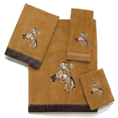 avanti cowboy rider bath towel nutmeg