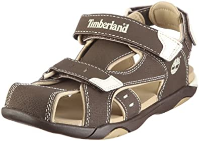 Timberland Boys Riverquest Closed Toe 3 Strap Sandal - Brown 1.5