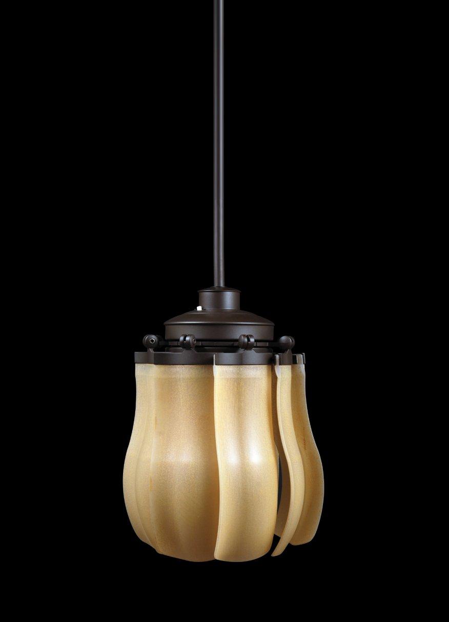 LuxVen Deckenventilator Fiore Römisch Bronze mit Klappflügel und Leuchte