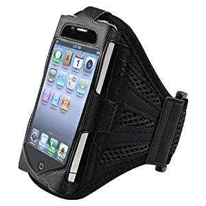 eForCity Sports Armband Arm band Compatible With Apple® iPhone® 4 4G iPhone® 4S - AT&T, Sprint, Version 16GB 32GB 64GB