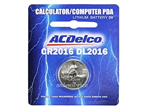 Monoprice ACDelco CR2016 Lithium 3-Volt Button Cell Battery 1-Pack