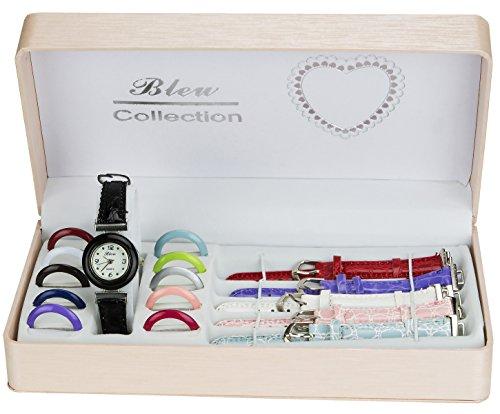 Geschenkset Mädchenuhr Austauschbare Zifferblätter und Armbänder