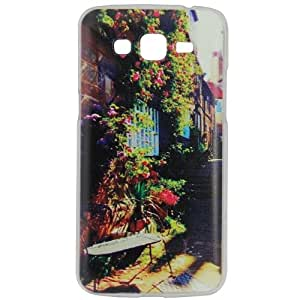 Casotec Clear Sides Print Design Hard Shell Back Case Cover for Samsung Galaxy Grand 2 SM-G7102
