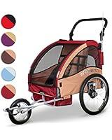Infantastic® FAH16-Rumba Red trasportino rimorchio bici rosso / beige