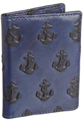 Jack Spade Embossed Anchor Vertical Card Holder
