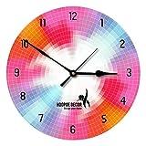 Hoopoe Decor Beautiful Colour Wheel Trendy Designer Wall Clock