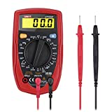GHB Digital Multimeter LCD Palm-Size Handheld Digital Multimeter Volt Amp Ohm Meter with Diode and Continuity Test