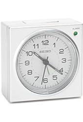 Seiko QHE086SLH Alarm Clock - 3.5 in. Wide