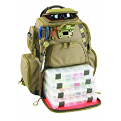 Buy Wild River by CLC WT3604 Tackle Tek Nomad Lighted Backpack with Four PT3600 Trays by Custom Leathercraft