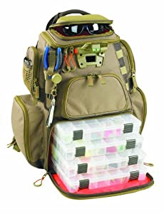Wild River by CLC WT3604 Tackle Tek Nomad Lighted Backpack with Four PT3600 Trays by Custom Leathercraft