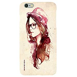 iSweven Luxurious Printed high Quality Girl with hat Design Back case cover for Apple iphone 6plus/6splus iph1669