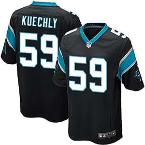 Luke Kuechly Carolina Panthers NFL MENS Black Game Screen Print Jersey (3X-Large)
