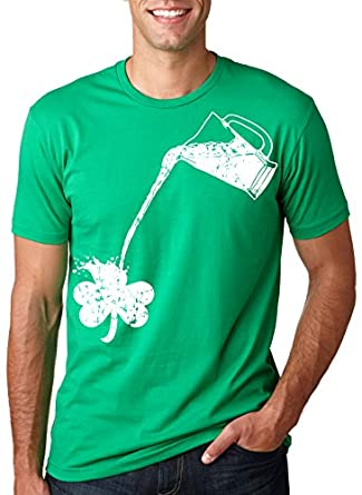 Pouring Shamrock T Shirt Funny Saint Patricks Day Shirt S
