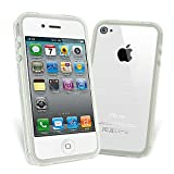 Clear Gel Bumper Case for Apple iPhone 4 with Screen Protector phones