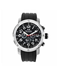 TW Steel Men's TW121 Grandeur Tech Black Rubber Chronograph Dial Watch