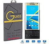【YoToo】 BlackBerry Priv 日本のガラスフィルム、高強度は、お使いの携帯電話の画面を保護 専用強化ガラスフィルム 耐指紋 耐衝撃 撥油性 超耐久 飛散防止処理保護フィルム 硬度9H 超薄0.33mm 2.5D (ゴールデン)