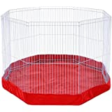 Prevue Pet Products SPV40097 Mat/Cover for 8-Panel Play Pen, Red