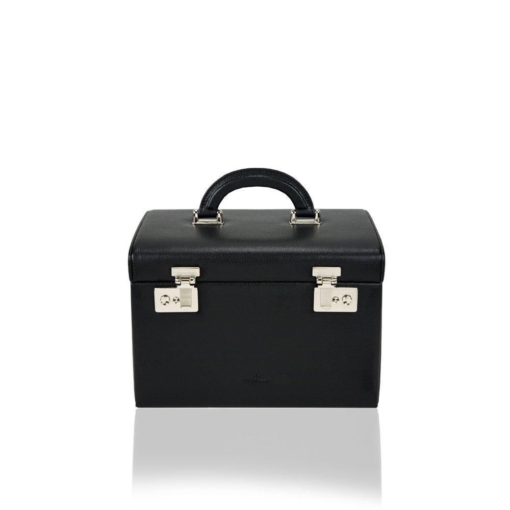 Windrose Beluga Schmuckkoffer mit 5 Etagen 8 schwarz schenken