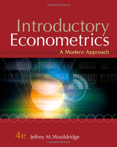econometrics wooldridge computer exercise Econometrics problem set #4 nathaniel higgins nhiggins@jhuedu assignment use the data in mlb1raw for this exercise i use the model estimated in equation.