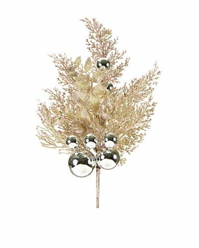 Melrose International Cedar Stem, Champagne/Silver