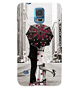 PRINTSWAG LOVE COUPLE Designer Back Cover Case for SAMSUNG GALAXY S5