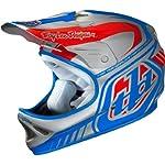 Troy Lee Designs Delta D2 Composite Street BMX Helmet - Silver/Blue / X-Large/2X-Large