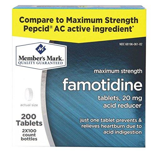 Члена Марк фамотидина - сравнить 2 / 100ct Pepcid AC максимальной прочности