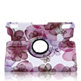 TOPCHANNCES 360 Degrees Rotating Stand Stylish Lucky Flowers Case for Kindle Fire HDX 7 inch with Smart Cover Wake/Sleep Function - Pink