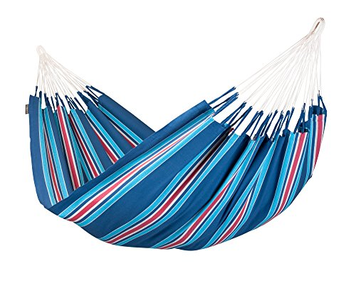 La Siesta Currambera Colombian Open Loop Style And Rip Proof Double Hammock, Blueberry