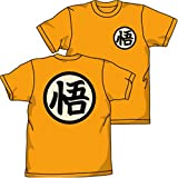 ドラゴンボール 悟空抜染 Tシャツ オレンジ : サイズ M