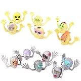 12x Fantasmas Susto Plastico Cabeza Juguetes Marionetas De Dedo Del Partido