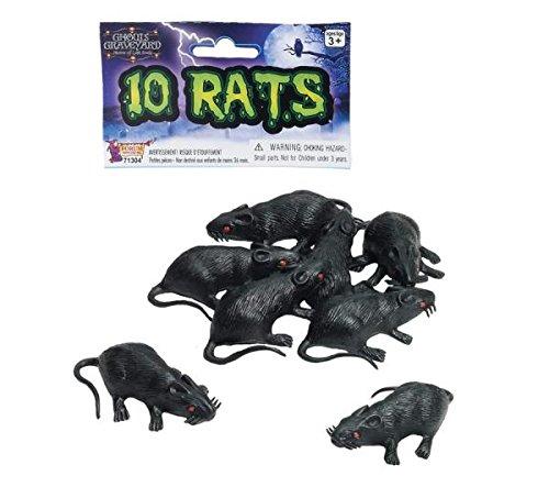 Plastic Rats (Set of 10)