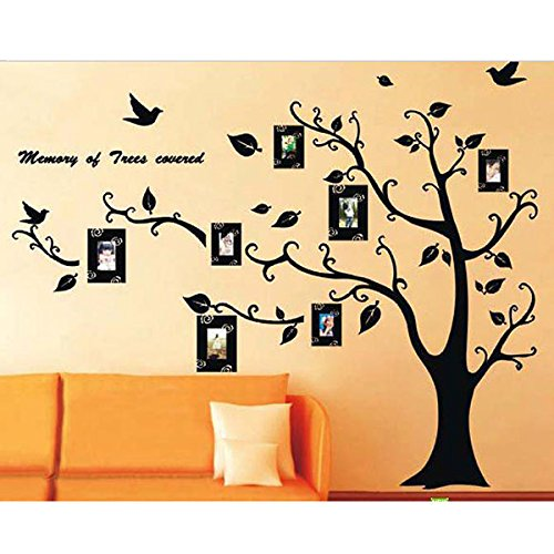 Waterproof Family Photo Tree Wall Stickers Home Room Decors Mural Art Decals Adhesive Decorative