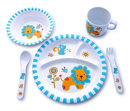 culina-kids-melamine-dinnerware-lion-set-of-5