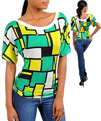 Geometric print top
