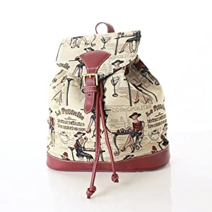 Women's Canvas Small Backpack Rucksack Fashion Bags / Coffee, Tea or Me?