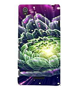 PrintVisa Colorful Flower Design 3D Hard Polycarbonate Designer Back Case Cover for Sony Xperia T3