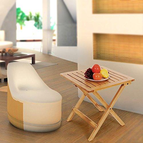 songmics beistelltisch klapptisch aus bambus f r balkon terrasse garten 46 x 46 x 46 cm gzd46n. Black Bedroom Furniture Sets. Home Design Ideas