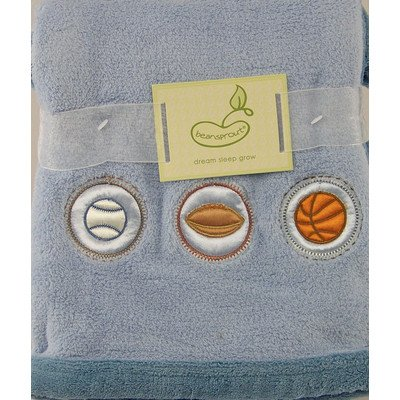 Chunky Fleece Crib Throw in Blue Icons