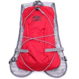 Hydration Backpack 1.5L Water Bladder Cycling Running Hiking Pack. Fits Men Women Children. (Red)