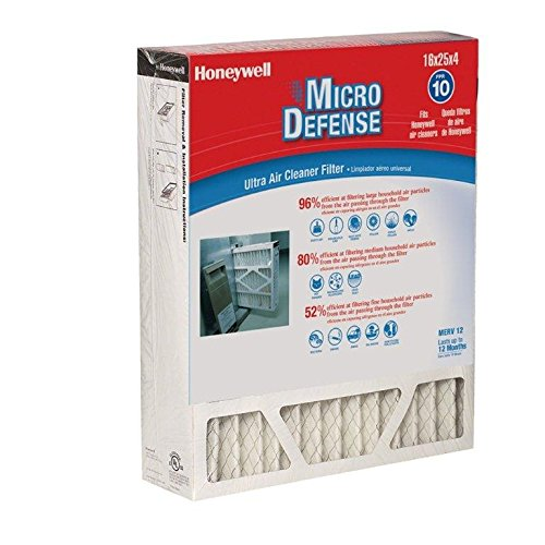 Honeywell CF200A1008/E 4.5-Inch Ultra Efficiency Air Cleaner Filter (Furnace Filter 16x25x4 Merv 12 compare prices)