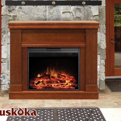 Muskoka MM2830WL Palmer Mantel Electric Fireplace, Walnut photo B009JAK09I.jpg