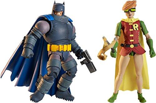 Super Hero The Dark Knight Returns Armored Batman Figure Vs Multiverse Robin Figure