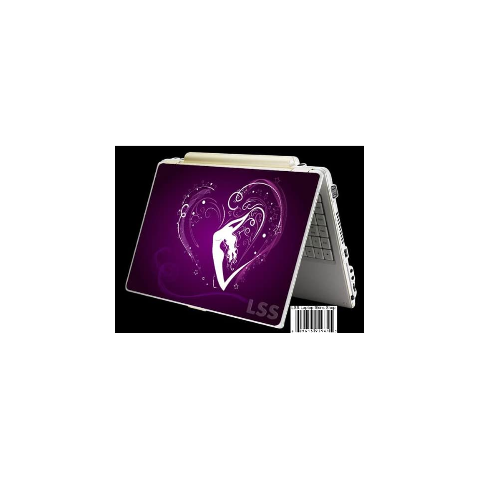 Laptop Skin Shop Laptop Notebook Skin Sticker Cover Art Decal Fits 13.3 14 15.6 16 HP Dell Lenovo Asus Compaq (Free 2 Wrist Pad Included) Purple Heart