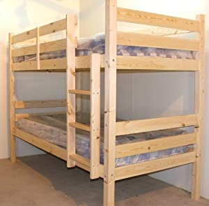Adult Bunkbed 3ft single solid pine bunk bed - HEAVY DUTY ...