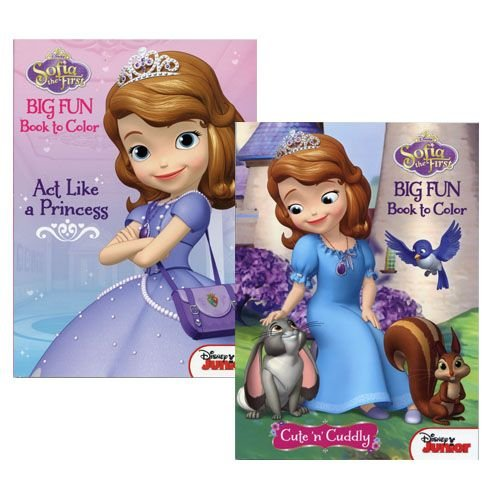WeGlow International Sofia the First 96-Page Jumbo Coloring and Activity Book (Set of 2) - 1