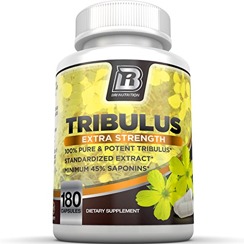 BRI Nutrition Tribulus Terrestris - 180 Count 45% Steroidal Saponins 40% Protodioscin - Highest Purity On The Market - 1500mg Maximum Strength Bulgarian Tribulus - 90 Day Supply