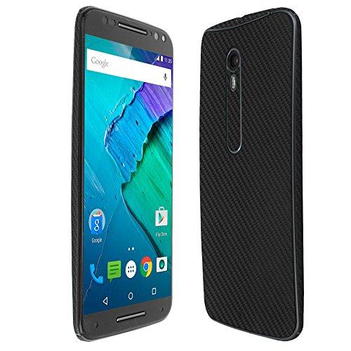 Skinomi TechSkin - Motorola Moto X Pure Edition/Moto X Style Screen Protector + Carbon Fiber Full Body Skin/ Front & Back Wrap Clear Film / Ultra HD & Anti-Bubble Shield (Carbon Fiber Moto X compare prices)