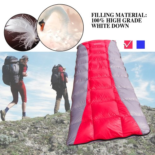 "Single Envelope Sleeping Bag 32-59 F Camping Hiking, 3 Season Sleeping Bag, 31.5""*78.8"", CAN BE SPLICED TO COUPLE SLEEPING BAGS, Carry Bag, Office Sleeping Bag, Down Sleeping Bag, Camping Sleeping Bag, Hiking Sleeping Bag, Sleeping Bag Envelope. Easy Portable. Two Colors Available. For People Under 6′ and 190 LB, Shipped by DHL. Arrive You in 4-5 Days After Delivery, Red"